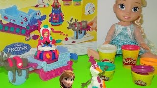 disney frozen anna play doh play doh frozen sled adventure create olaf