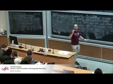 Dimitri Zvonkine : Lecture 1: Hurwitz numbers and integrable