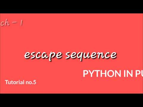 PYTHON IN PUNJAB || Tutorial no. 6|| escape sequence || thumbnail
