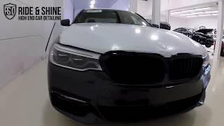High End Car Detailing BMW 5 series New Car Treatment with Modesta BC-03/04/06