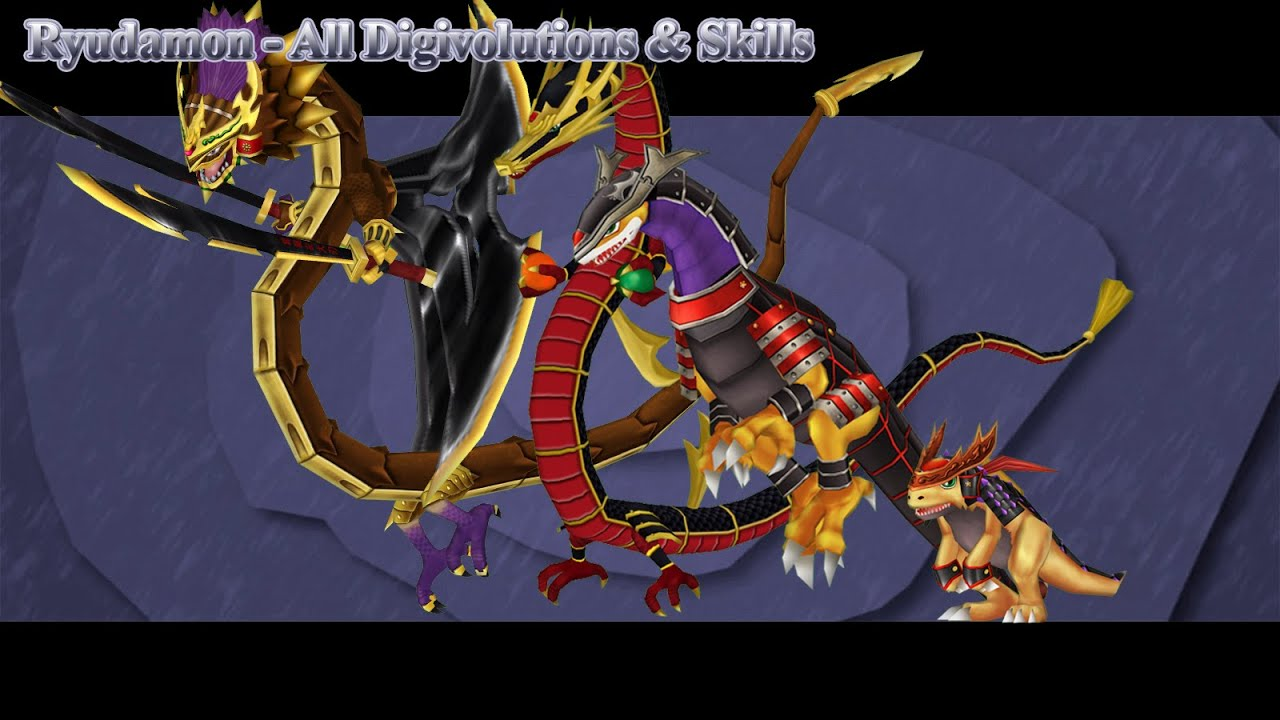 Digimon Masters Online: Ryudamon - All Digivolutions ...