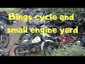 Bing's cycles grave yard.  Honda CT Mini Trail 70 extraction