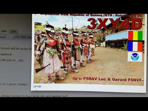 3XY4D, Rep. of Guinea AFRICA, 10MHz, CW (1-1), Worked by HL2WA