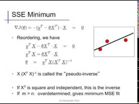 Linear regression (3): Normal equations - YouTube