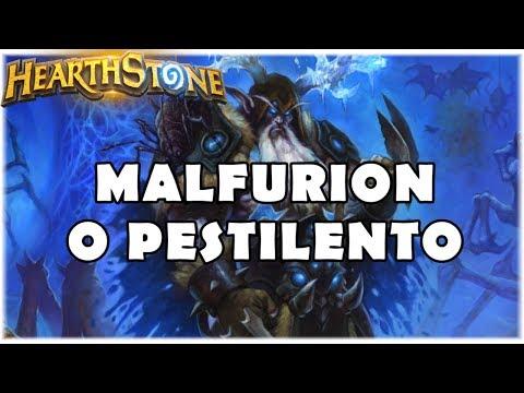 HEARTHSTONE - MALFURION O PESTILENTO! (STANDARD DK RAMP DRUID)