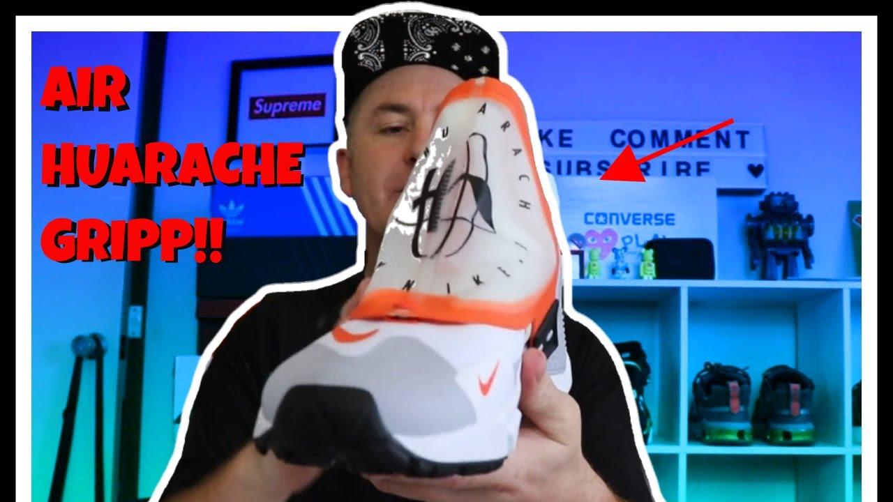 c5c8a5ca95d25 Nike air huarache gripp on foot review - YouTube