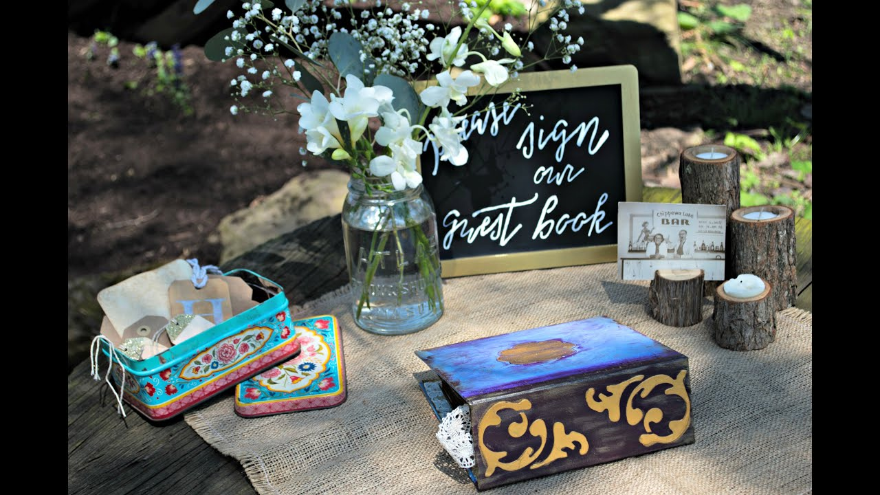 Wedding Guest Book Table - YouTube