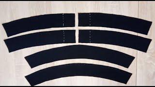 Обработка притачного пояса в брюках