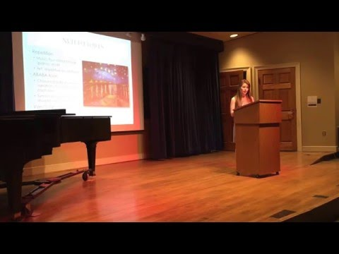 Margeaux Ducoing and Abby Moran Presentation