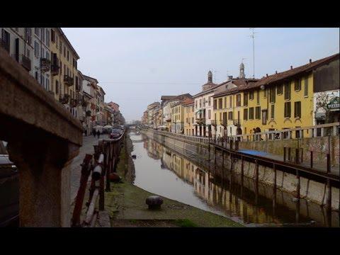 La zona dei Navigli a Milano. Realizzato da Valerio Gamboni, Jhoni Vilca, Andrea Zambelli.