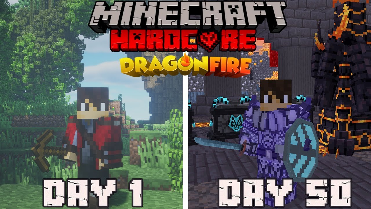 I Survived 100 Days in DRAGON FIRE Hardcore Minecraft.. But with VIKINGS