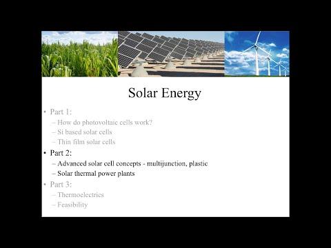 Solar Energy (Part 2)