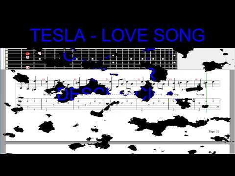 Tesla - Love Song - guitar pro