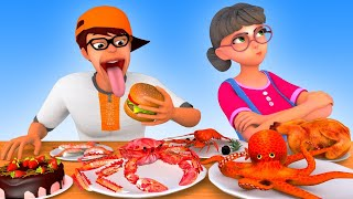 Hot Little Nick and Cold Little Nick Mukbang - Scary Teacher 3D  VMAni Funny 