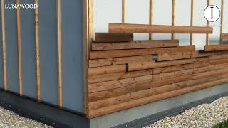Lunawood facade horizontal installation