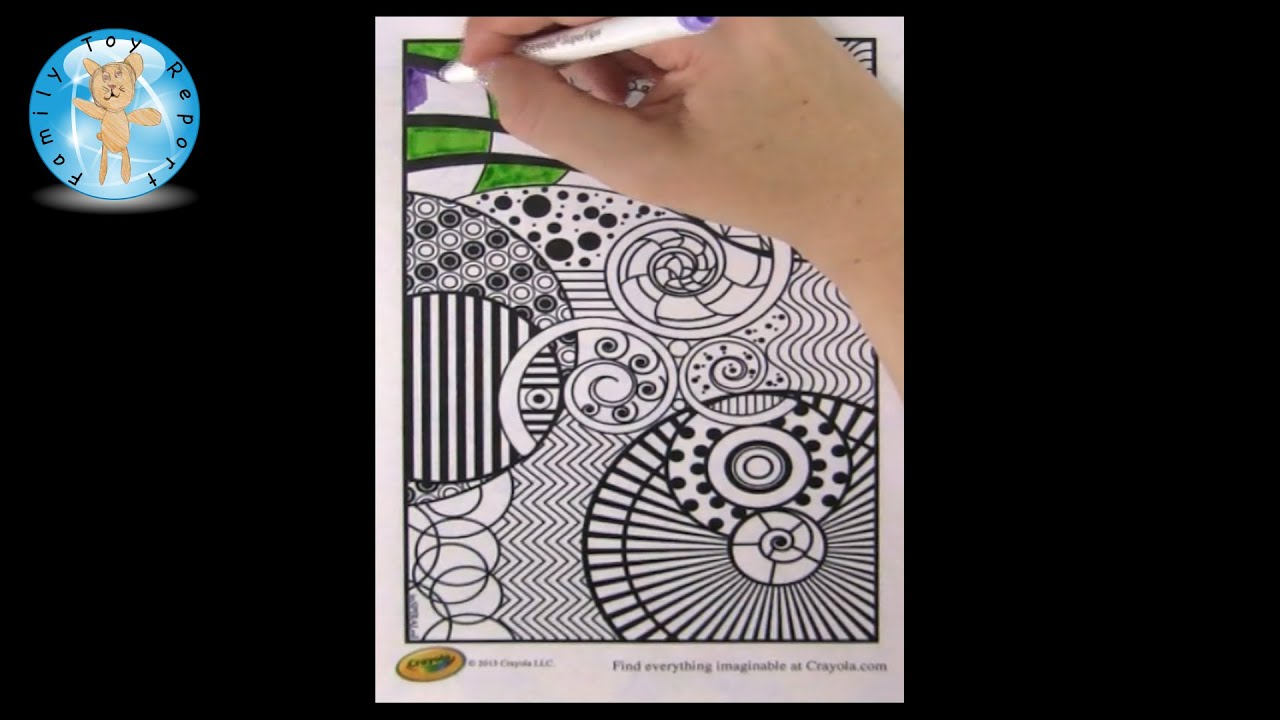 Crayola coloring page inspiraled crayola markers family toy report
