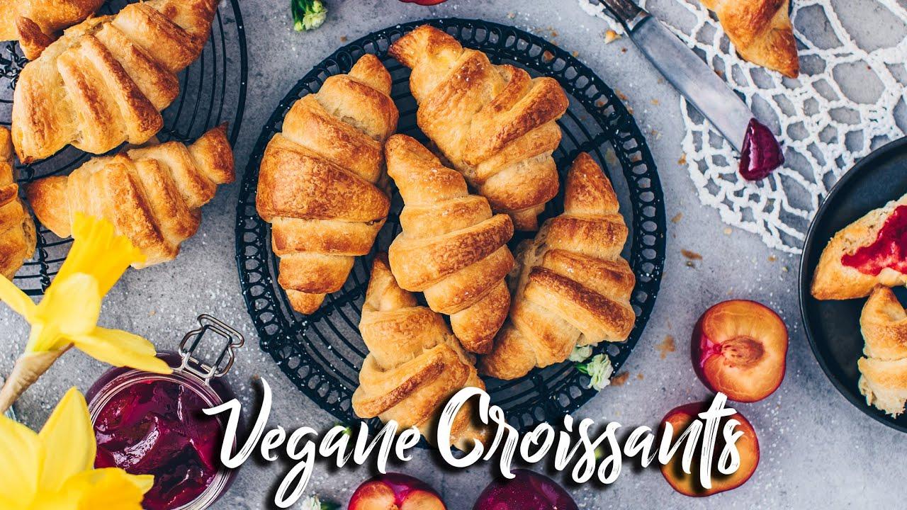 Vegane Croissants selber machen *Plunderteig Rezept* (Blätterteig für Hörnchen, Kipferl & Co)