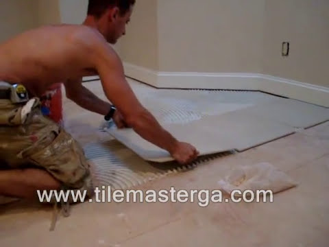 "Tile installation in Atlanta GA - 20""x20"" porcelain tiles on slab floor - How to -, Alpharetta"