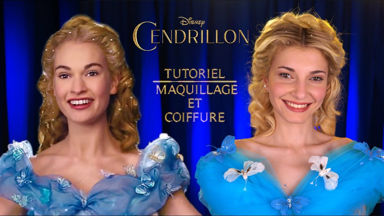 Cendrillon 2015 Tutoriel Coiffure Et Maquillage Look Lily James Youtube