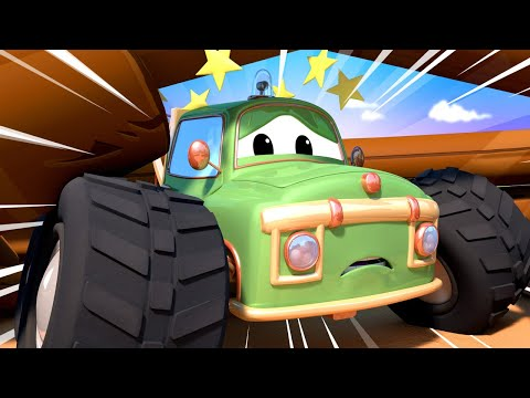Cidade do Monster Truck | O Moe está preso 🚗 Desenhos Animados para Crianças.