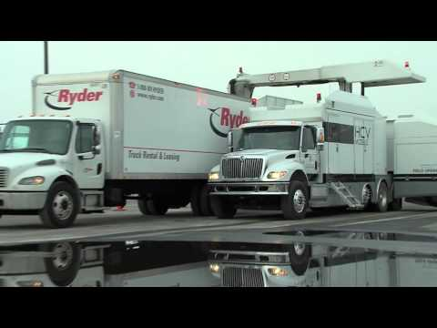 Smiths Detection HCV Mobile Cargo & Vehicle X-ray Scanner In Use At Superbowl 2014