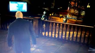 Hitman: Absolution (Courthouse mockery of conspiracy theorists)