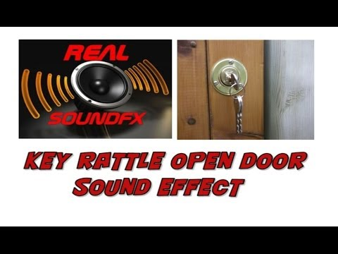 key rattle and door opening sound effect realsoundfx youtube. Black Bedroom Furniture Sets. Home Design Ideas