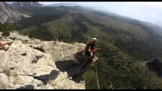 Шаан-кая прыжки с верёвкой в Крыму с командой Skyline(, 2015-09-10T14:32:26.000Z)