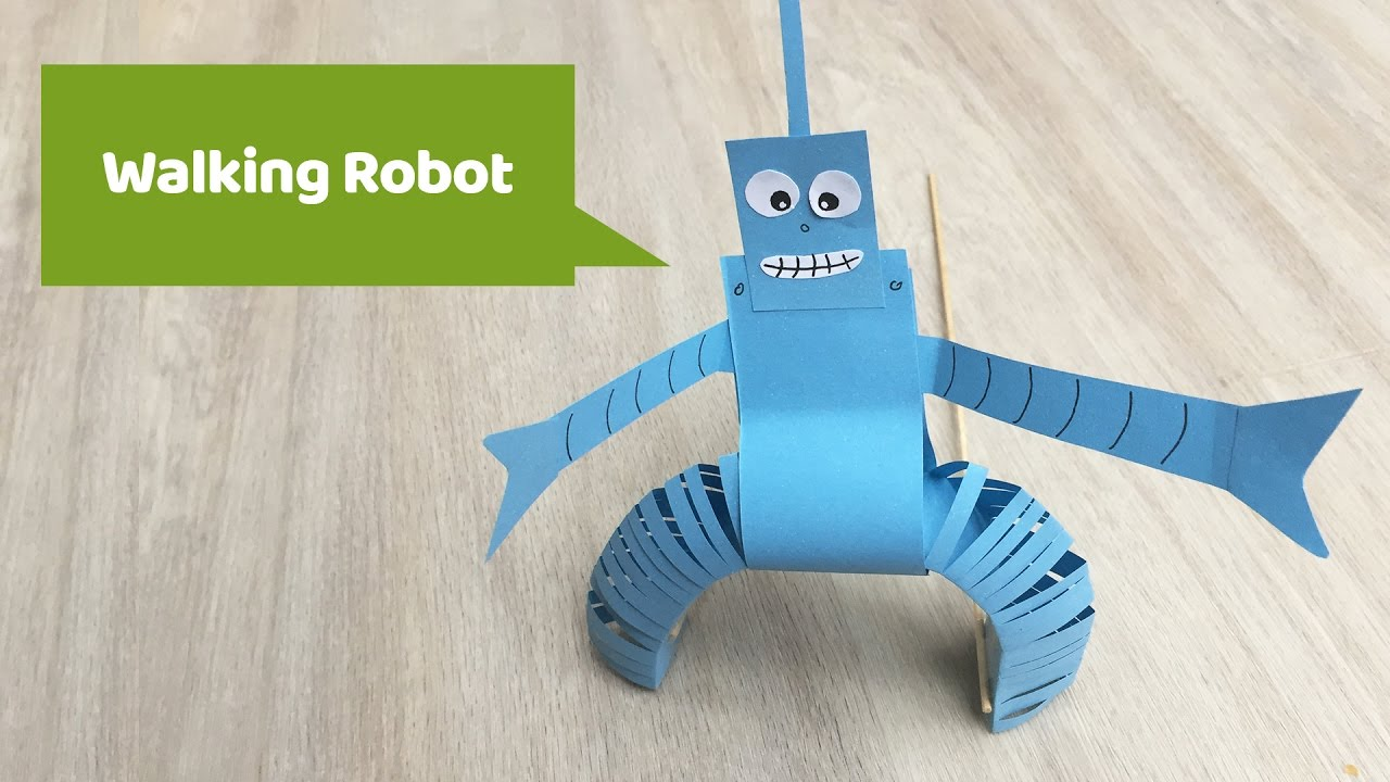 Paper Craft Walking Robot Made Of Paper Your Kids Will Love It