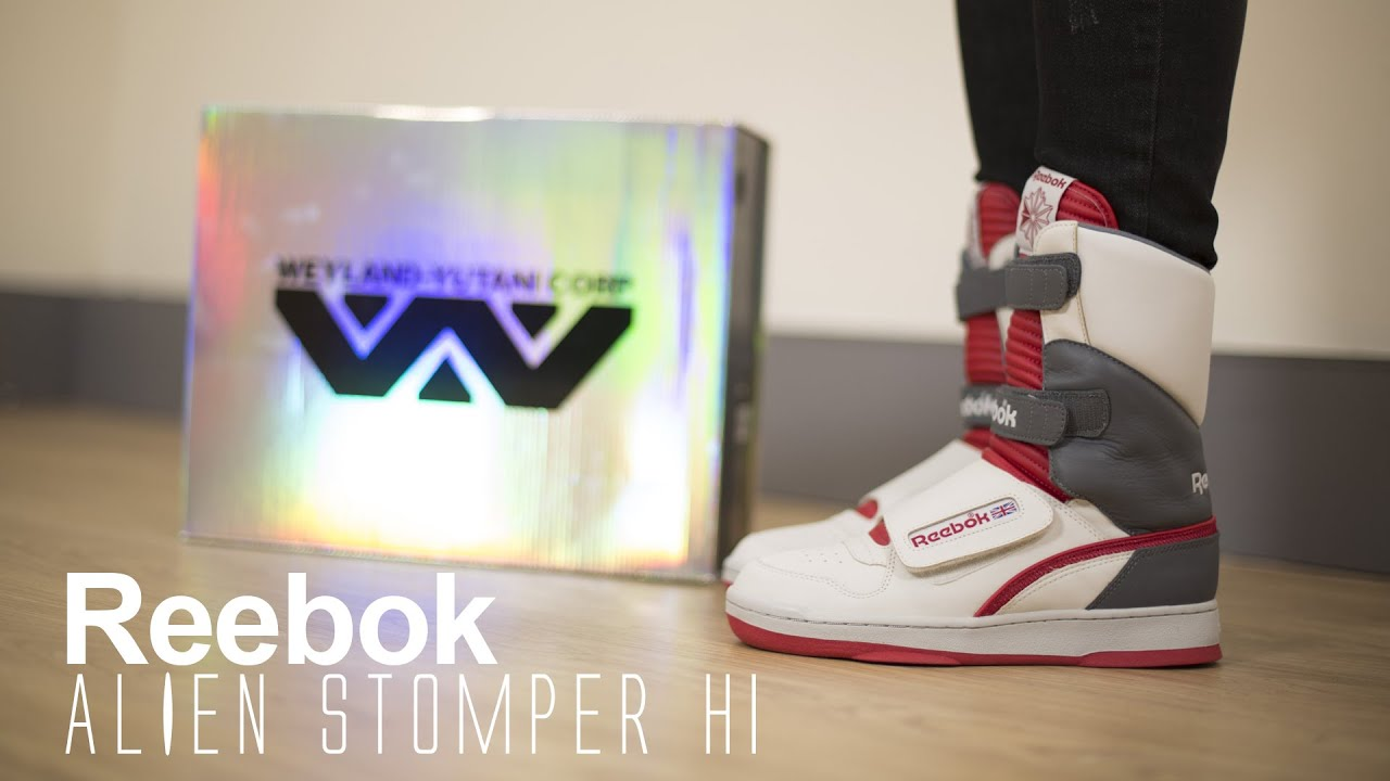 39b51b69e96236 A Closer Look  Reebok Alien Stomper Hi - YouTube