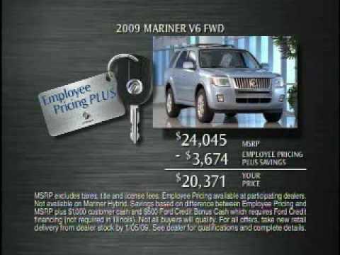 Mercury Employee Pricing Plus additional Rebates