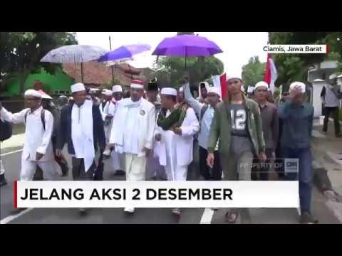 Jalan Kaki, Ribuan Santri Ciamis Bergerak Ke Jakarta untuk Ikut Aksi 2/12