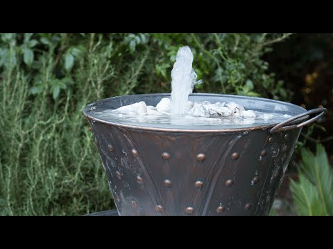 Make a Whiskey Barrel Water Feature