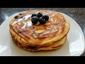 How to make fluffy pancakes/ How to make American style blueberry pancakes