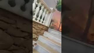 A shocking video of the raging bushfires in Mati - Greece on July 23.