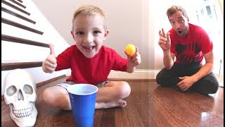 FATHER SON PING PONG TRICK SHOTS 2!