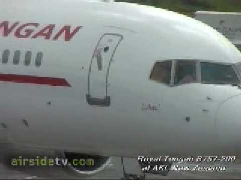 Airsidetv.com - Royal Tongan B757-200 at AKL