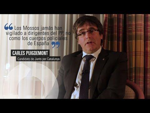 """Puigdemont: """"Los Mossos jamás han vigilado a dirigentes del PP"""""""