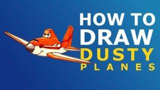 How To Draw Dusty - Planes (2013 Disney movie)