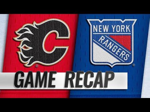 Gaudreau earns 300th point as Flames beat Rangers