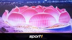 100.000 Zuschauer in Lotusblume: Das wird das größte Fußballstadion der Welt | SPORT1