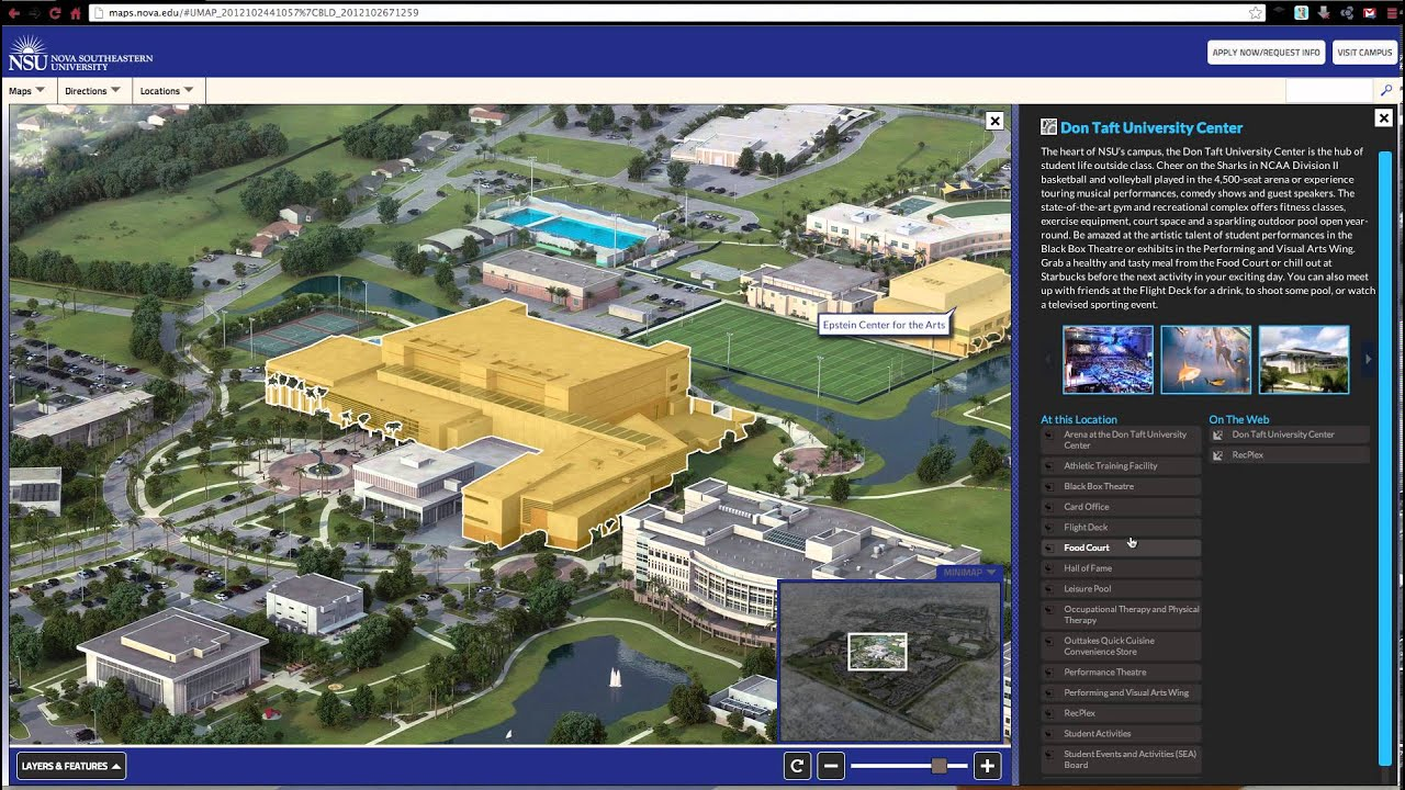 nova southeastern universitys new campus map youtube