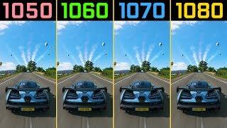 Forza Horizon 4 GTX 1050 Ti vs. GTX 1060 vs. GTX 1070 vs. GTX 1080 (Demo)