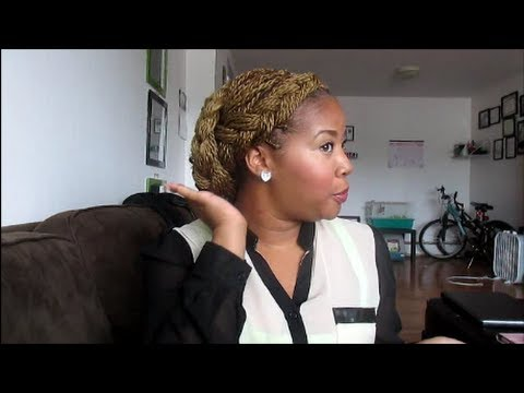 Easy updo with Senegalese twist  YouTube