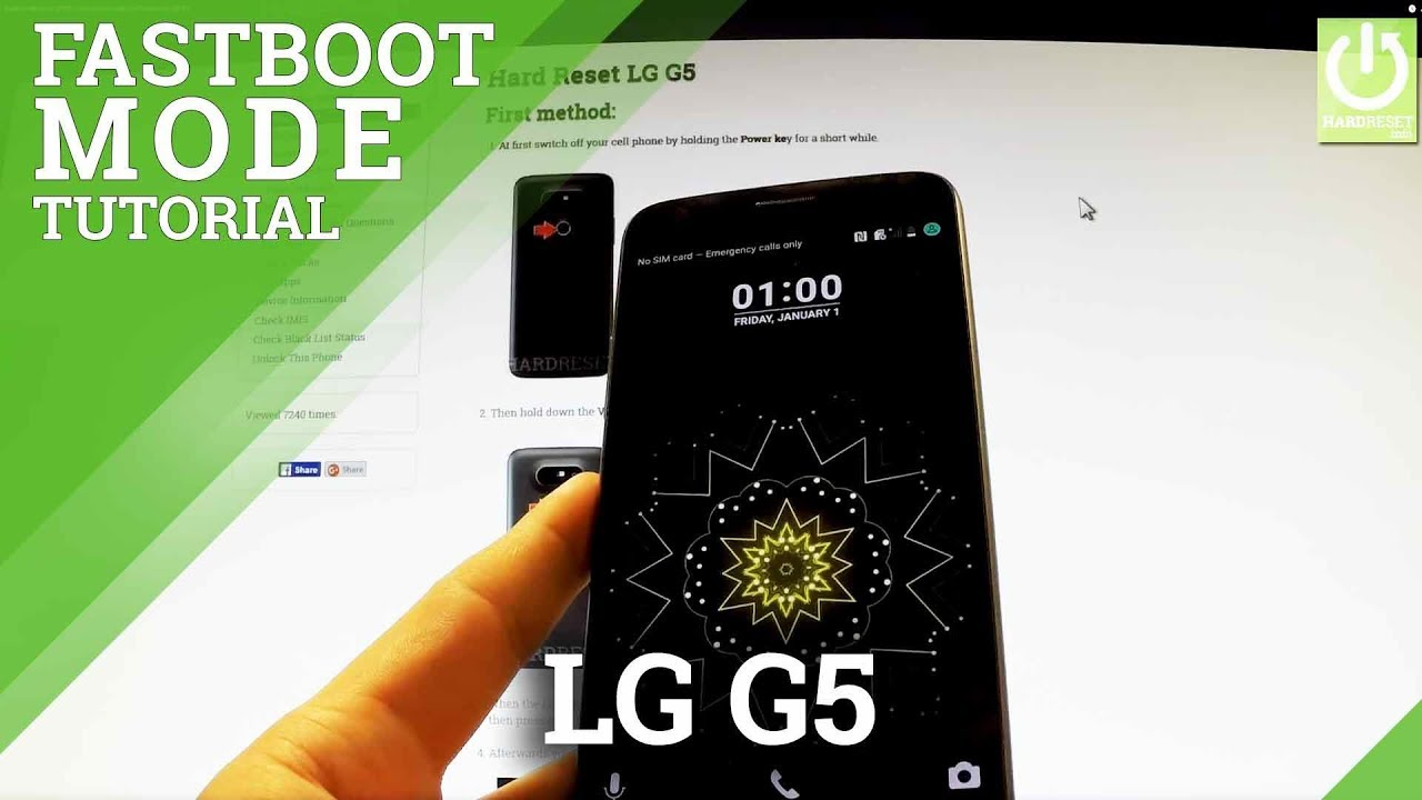 Fastboot Mode in LG G5 - How to Enter and Quit Fastboot in LG G5