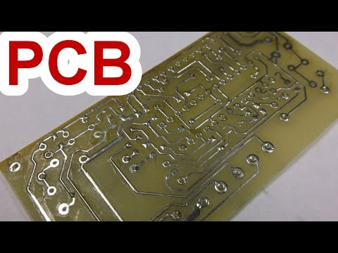 Simple method! How to make a double sided printed circuit board