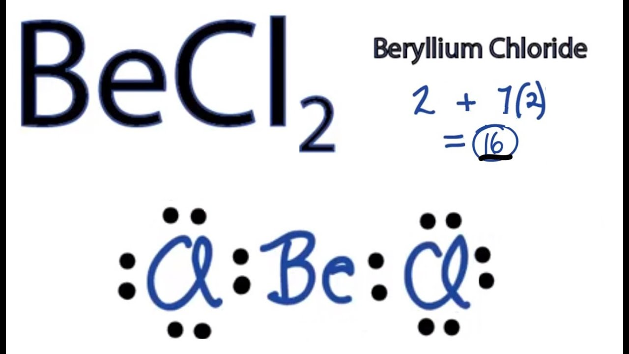 medium resolution of becl2 lewis structure how to draw the lewis structure for becl2 youtube