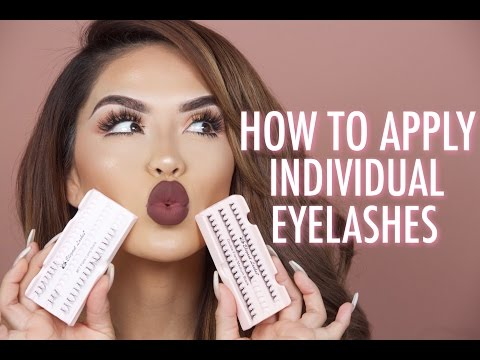 How to apply individual lashes | iluvsarahii
