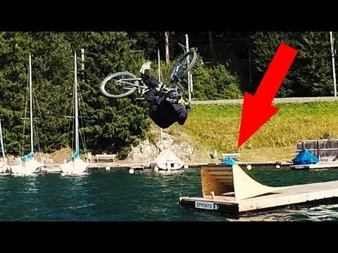 Bike-Reinigung mit Minirampe - Abkühlung in Davos Klosters | Fabio Schäfer Vlog #103