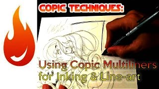 Line-art and Inking with Copic Multiliners